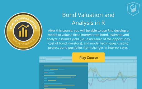 Bond Valuation & Analysis in R