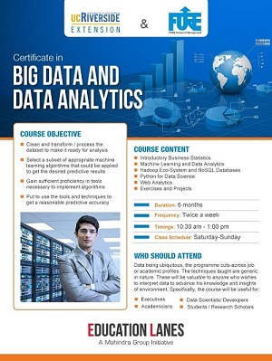 Certificate in Big Data & Data Analytics