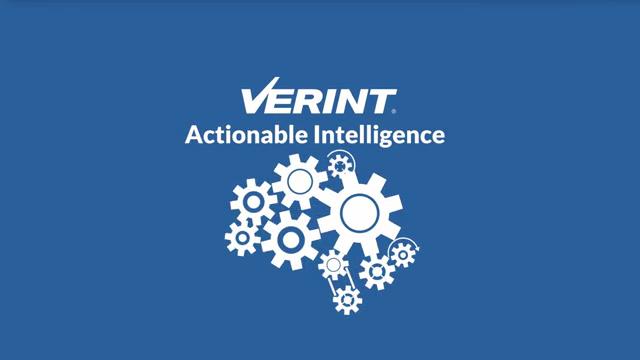 Verint Fusion Analytics World